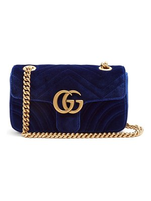 Gucci gg marmont mini quilted velvet cross body bag