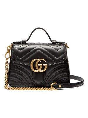 Gucci gg marmont quilted leather cross body bag