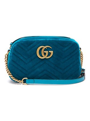 Gucci gg marmont quilted velvet cross body bag