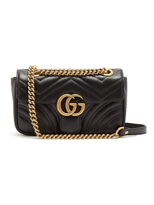 Gucci Gg Marmont Small Quilted Leather Cross Body Bag