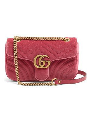 Gucci GG Marmont small quilted velvet cross-body bag