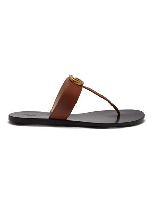 Gucci gg marmont t bar leather sandals