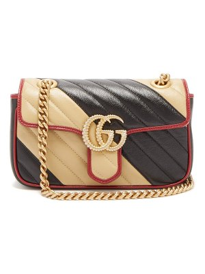 Gucci gg marmont two tone leather cross body bag