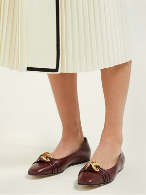 Gucci gg plaque leather ballet flats