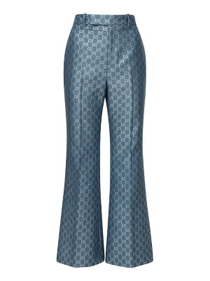 Gucci Gg wool &  lamé blend flared crop pants