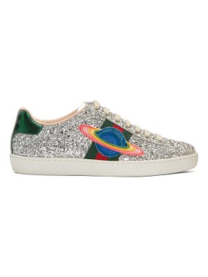 Gucci Glitter Planet New Ace Sneakers