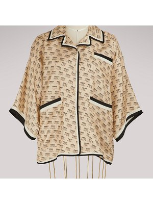 Gucci Gucci invite stamp silk shirt