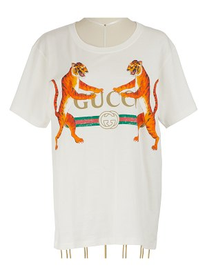 Gucci Gucci-Logo with Tigers T-Shirt