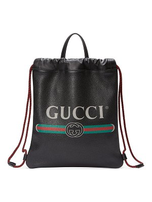 Gucci Gucci-Print Small Drawstring Backpack