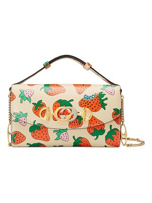 Gucci Gucci Zumi Strawberry Shoulder Bag