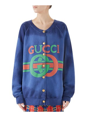Gucci Heavy Felted Cotton Jersey Sweatshirt