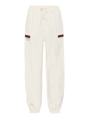 Gucci high-rise cotton trackpants