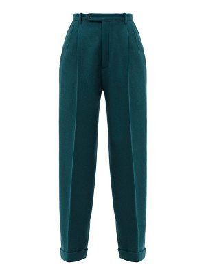 Gucci high-rise wool wide-leg trousers