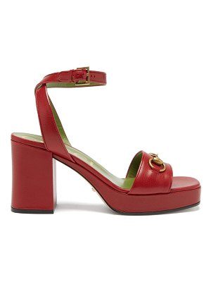 Gucci houdan horsebit leather platform sandals