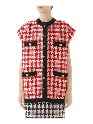 Gucci houndstooth tweed jacket