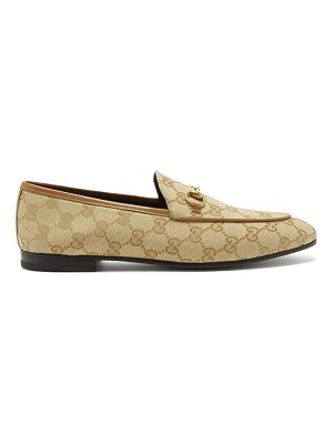 Gucci jordaan gg-jacquard canvas loafers