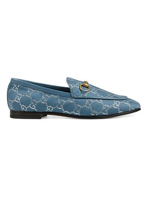 Gucci jordaan gg lamé loafers
