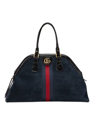 Gucci large re(belle) suede satchel