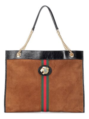 Gucci Large Tiger Head suede tote
