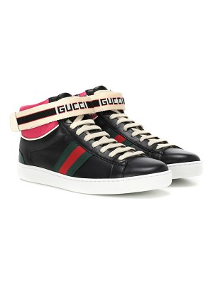 Gucci leather high-top sneakers
