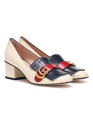 Gucci marmont leather loafer pumps