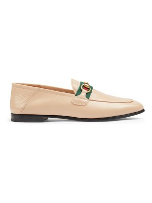 Gucci leather loafers with web