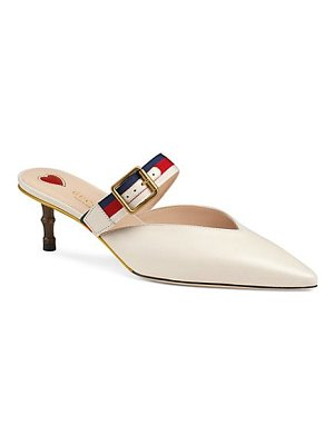 Gucci leather pumps with sylvie web
