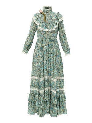 Gucci liberty-print crepe gown