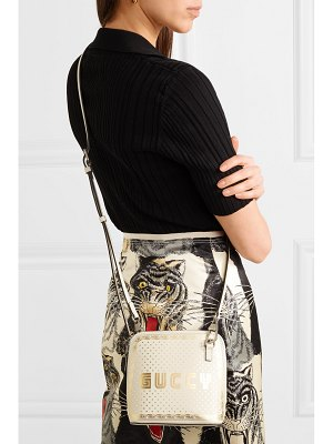 Gucci guccy printed leather shoulder bag