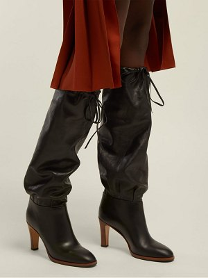 Gucci knee high leather boots