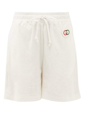 Gucci logo patch cotton-terry shorts