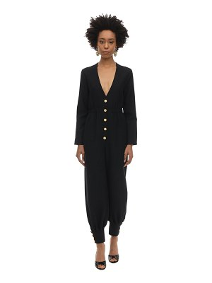 Gucci Long wool cady & silk crepe jumpsuit