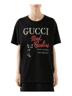 Gucci mad cookies embroidered graphic tee