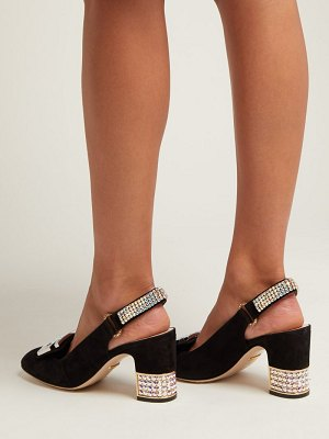 Gucci Madelyn crystal-embellished suede pumps