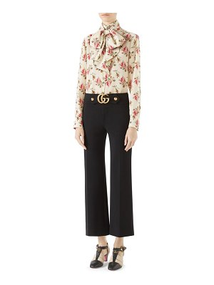 Gucci double g stretch jersey crop pants