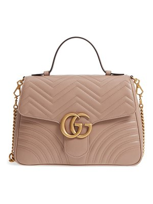 Gucci medium gg marmont 2.0 matelasse leather top handle bag