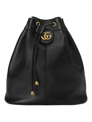 Gucci medium re(belle) leather convertible bucket bag