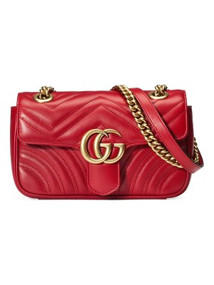 Gucci mini gg marmont 2.0 matelasse leather shoulder bag