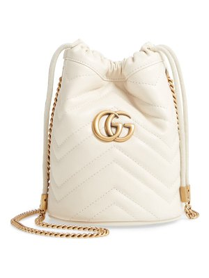 Gucci mini gg marmont 2.0 quilted leather bucket bag