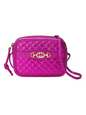 Gucci Mini Quilted Metallic Crossbody Bag