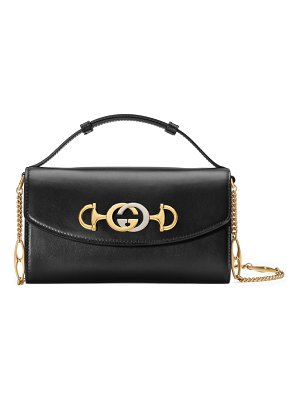 Gucci mini zumi leather shoulder bag