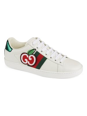 Gucci new ace double g logo cherry sneaker