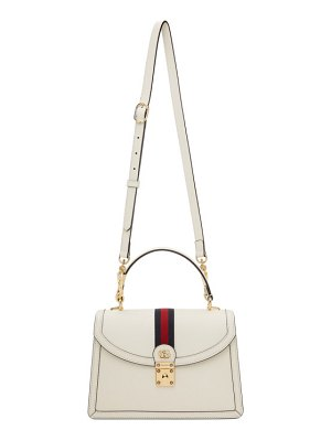 Gucci off-white small ophidia top handle bag