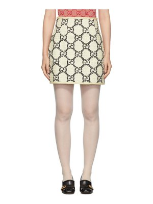 Gucci off-white tweed gg supreme miniskirt