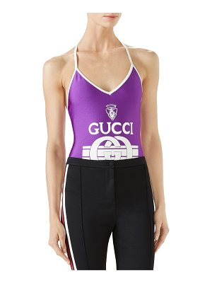 Gucci One-Piece Swimsuit in Sparkling Lycra® w/ Gucci Print