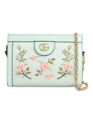 Gucci Ophidia embroidered satin clutch