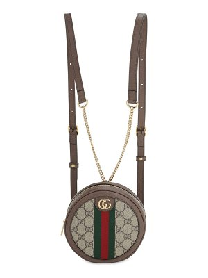 Gucci Ophidia gg supreme round backpack