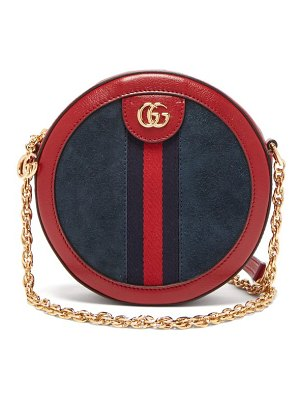 Gucci ophidia leather and suede cross body bag