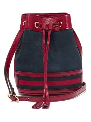 Gucci Ophidia Mini Suede Bucket Bag