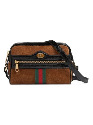 Gucci ophidia small suede & leather crossbody bag